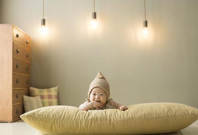 子供部屋と赤ちゃん