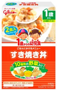 赤ちゃんの非常食_グリコすきやき丼