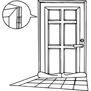 玄関ドア(内側)の対策