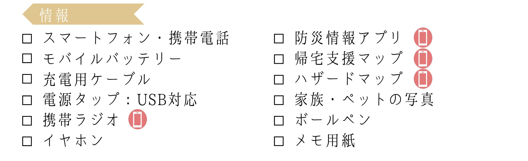 0次の備えリスト_情報