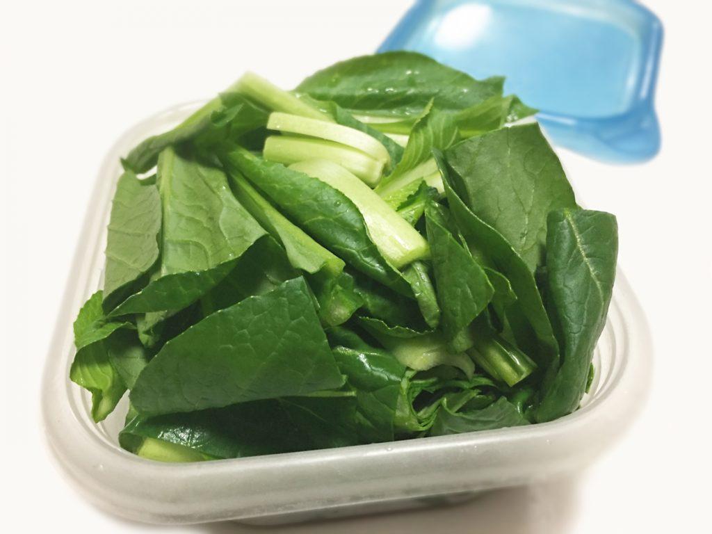 小松菜の冷凍保存(差し替え)