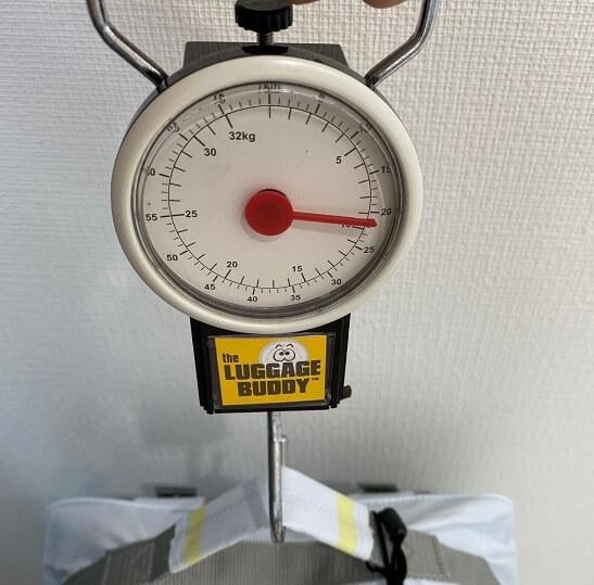 防災リュック14Lの重さ