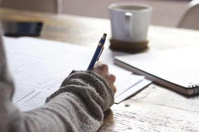 ノートとペンで勉強
