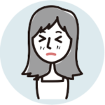 困った顔の女性アイコン
