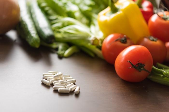 野菜とサプリ