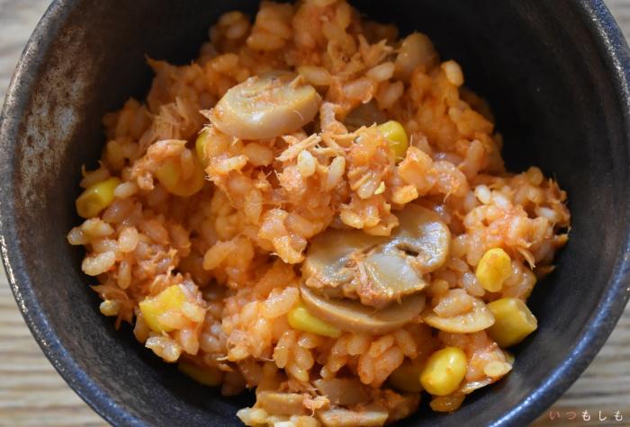 野菜ジュースの炊き込みご飯image