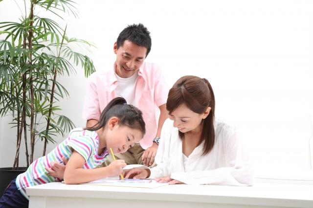 家族で地図に書き込む
