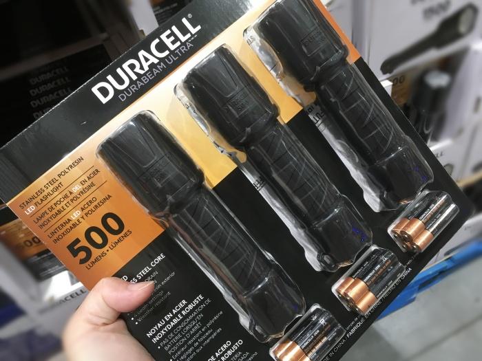 デュラセル LED防滴懐中電灯3本セット500ルーメン