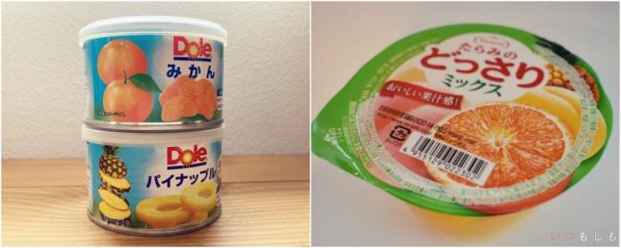 夏向け非常食_フルーツ缶